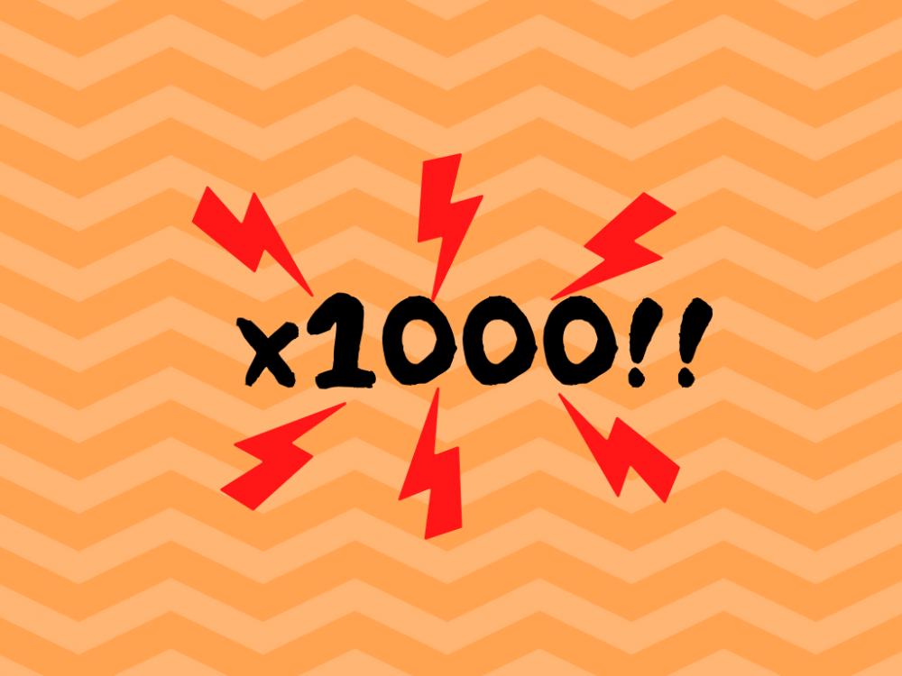 1000倍